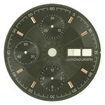 Sale: d=30.0 mm, Dial ETA 7750, black decor, patch roségold plated figures, DayDate on 3