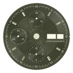 Sale: d=30.0 mm, Dial ETA 7750, black decor, patch chrome figures, DayDate on 3