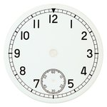 D=36.5 mm, Dial ETA 6498, white shiny, second on 6