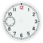 D=36.5 mm, Dial ETA 6497, white shiny, second on 9