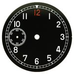 D=36.5 mm, Dial ETA 6497, black shiny, second on 9